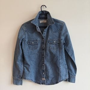 Levi's Western Classic Fit Pearl Snap Denim Shirt